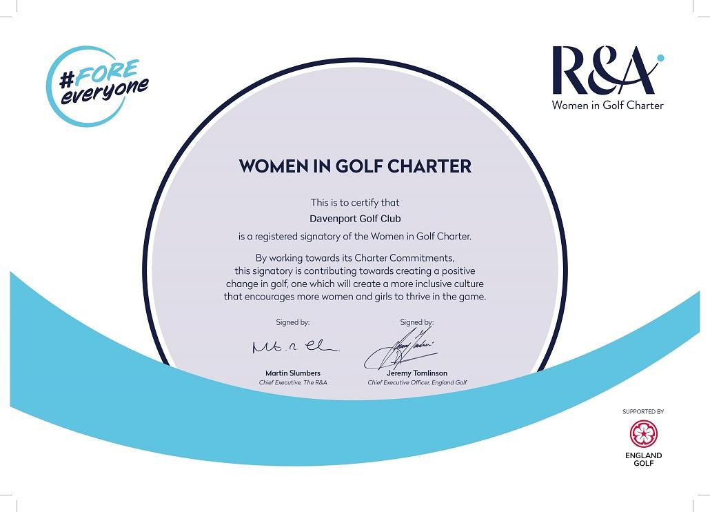 Charter Certificate